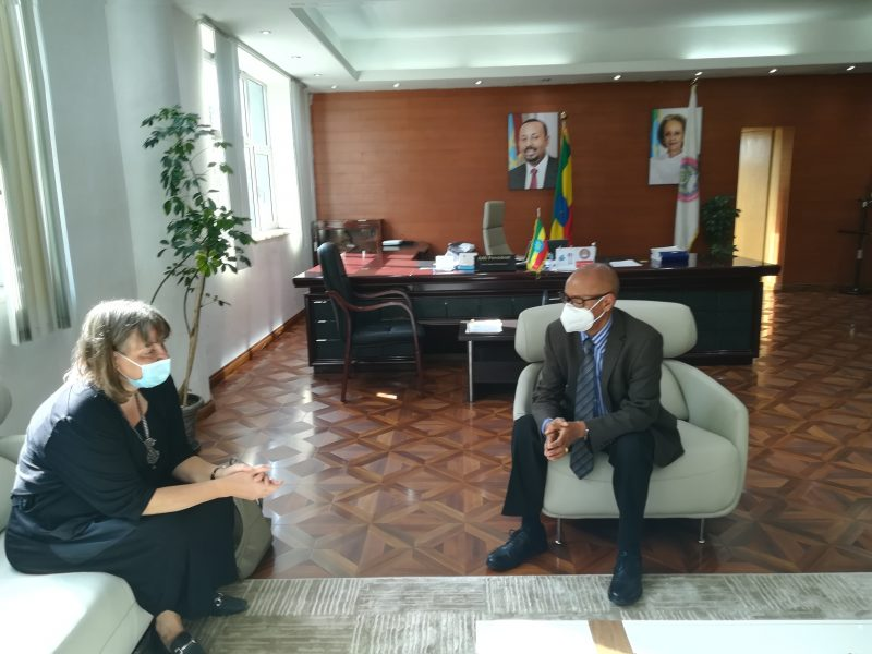 Professor Tassew Woldehanna, President of AAU organized a farewell ceremony for Minister Counselor Annika N. Jayawardena of the Embassy of Sweden, Addis Ababa.